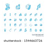 isometric line icon set. 3d...   Shutterstock .eps vector #1544663726