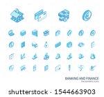 isometric line icon set. 3d... | Shutterstock .eps vector #1544663903