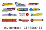 tv title news bar logos  news... | Shutterstock .eps vector #1544666483