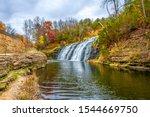 Thunder Bay Falls near Galena Town of Illinois