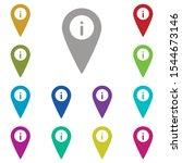 location  info multi color icon....