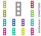 traffic  light multi color icon....