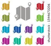 map  location multi color icon. ...