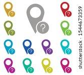 ask  location multi color icon. ...
