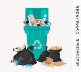 Recycle Garbage Bin Full Of...