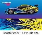 car wrap design with abstract... | Shutterstock .eps vector #1544705426
