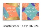 a set of postcard with the... | Shutterstock .eps vector #1544707223