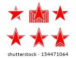 set of vector stars | Shutterstock .eps vector #154471064