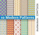 Stock vector  different modern vector seamless patterns tiling texture can be used for printing onto fabric 154471616