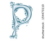 blue water and clear drops.... | Shutterstock .eps vector #154473110