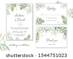 wedding cards design. forest...   Shutterstock .eps vector #1544751023