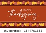 happy thanksgiving autumn fall... | Shutterstock .eps vector #1544761853