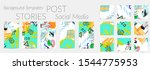 creative backgrounds for social ... | Shutterstock .eps vector #1544775953