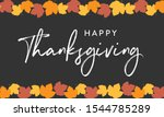 happy thanksgiving autumn fall... | Shutterstock .eps vector #1544785289