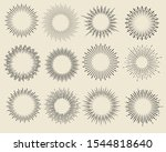 set of vintage hand drawn... | Shutterstock .eps vector #1544818640