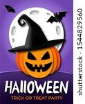 happy halloween trick or treat...   Shutterstock . vector #1544829560