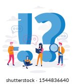woman and man standing near...   Shutterstock .eps vector #1544836640