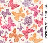 Floral Butterflies Seamless...