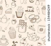 desserts seamless pattern | Shutterstock .eps vector #154484249