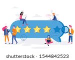 feedback with stars vector... | Shutterstock .eps vector #1544842523