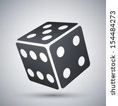 vector dice icon | Shutterstock .eps vector #154484273