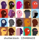 human heads   abstract vector... | Shutterstock .eps vector #154484633
