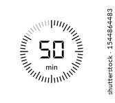 stopwatch 50 minutes timer... | Shutterstock .eps vector #1544864483