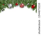 beautiful christmas header with ... | Shutterstock .eps vector #1544873210