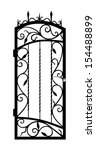 Forged Gate Door Isolated On...
