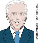 Stylized portrait illustration of Joe Biden, 47th Vice President of the United States, based on public domain image