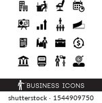 set of 16 business icons in... | Shutterstock .eps vector #1544909750