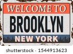 brooklyn new york vintage new... | Shutterstock .eps vector #1544913623