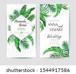 wedding invitation for modern... | Shutterstock .eps vector #1544917586