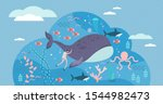 marine life vector illustration.... | Shutterstock .eps vector #1544982473
