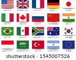 g20 flag image material set | Shutterstock .eps vector #1545007526