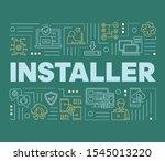 installer word concepts banner. ...