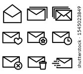 set of mail icon with trendy...