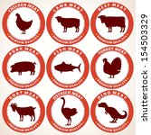 set of fresh meat labels. tags... | Shutterstock .eps vector #154503329