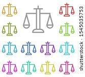 balance multi color icon....