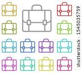 briefcase multi color icon....