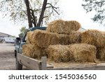 Vintage Farm Truck Hauling...