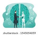 artificial intelligence...   Shutterstock .eps vector #1545054059