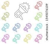 megaphone multi color icon....