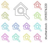 house search multi color icon....