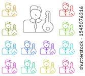 tenant multi color icon. simple ...