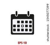 calendar icon vector flat design