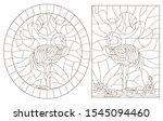 set contour illustrations of... | Shutterstock .eps vector #1545094460