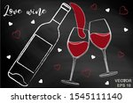 wine. chalk board. alcoholic...   Shutterstock .eps vector #1545111140