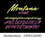 montana brush lettering script. ... | Shutterstock .eps vector #1545124340