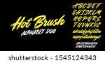 hot brush alphabet duo. vector... | Shutterstock .eps vector #1545124343